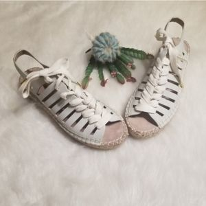 Seven Dials Seafoam Lace Up Espadrille Sandals